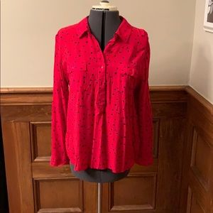 Navy and Red star blouse
